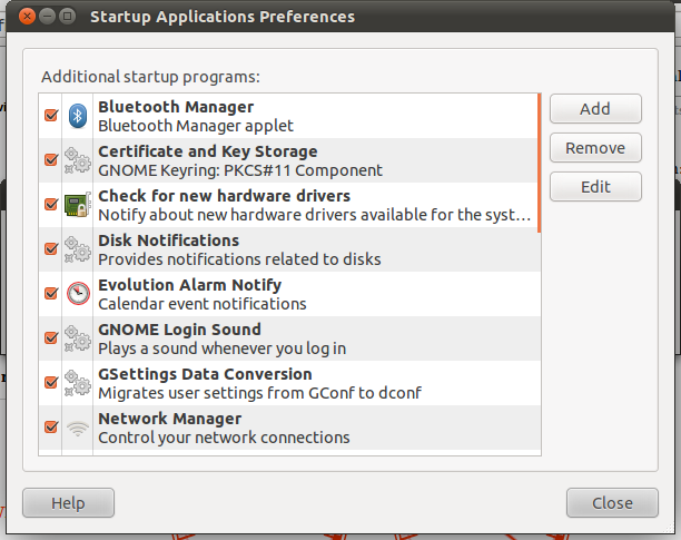Startup Application Preferences